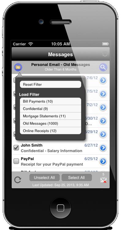 MailShredder Screenshot